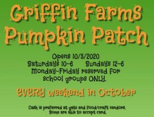 Griffin Farms Pumpkin Patch open for fun family agritainment